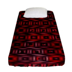 Classic Blocks,red Fitted Sheet (single Size) by MoreColorsinLife