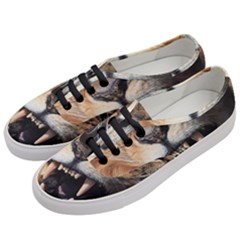 Male Lion Angry Women s Classic Low Top Sneakers by Celenk