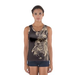 Angry Male Lion Sport Tank Top