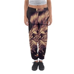 Angry Male Lion Gold Women s Jogger Sweatpants