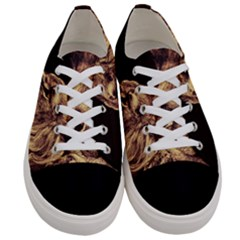 Angry Male Lion Gold Women s Low Top Canvas Sneakers