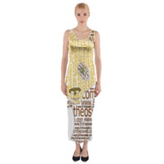 Panda Typography Fitted Maxi Dress