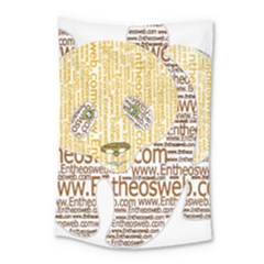 Panda Typography Small Tapestry