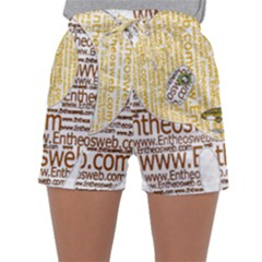 Panda Typography Sleepwear Shorts