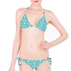 Art Deco Teal Bikini Set by 8fugoso