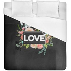Love Duvet Cover (king Size) by 8fugoso