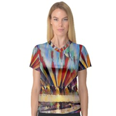 3abstractionism V Neck Sport Mesh Tee by 8fugoso