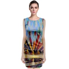 3abstractionism Classic Sleeveless Midi Dress