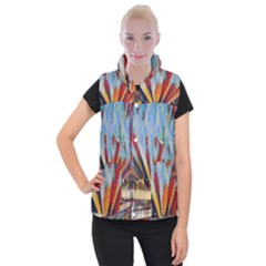 3abstractionism Women s Button Up Puffer Vest by 8fugoso