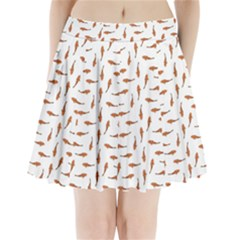 Koi Fishes Motif Pattern Pleated Mini Skirt by dflcprintsclothing