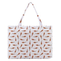 Koi Fishes Motif Pattern Zipper Medium Tote Bag