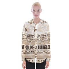 Vintage Newspapers Headline Typography Womens Long Sleeve Shirt by yoursparklingshop