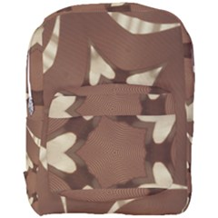 Chocolate Brown Kaleidoscope Design Star Full Print Backpack