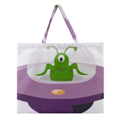 Ufo Zipper Large Tote Bag by Celenk