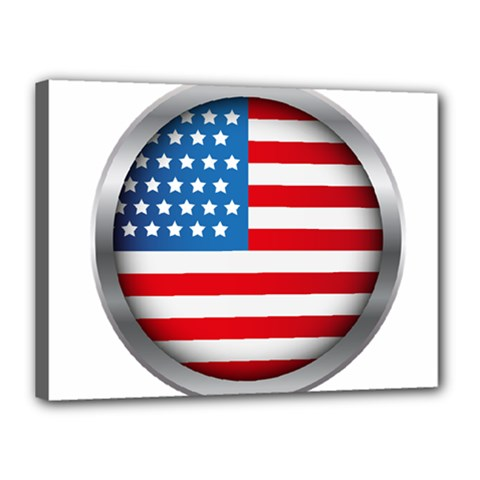 United Of America Usa Flag Canvas 16  X 12  by Celenk