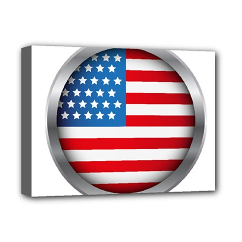 United Of America Usa Flag Deluxe Canvas 16  X 12   by Celenk