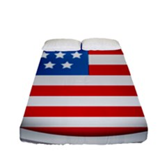United Of America Usa Flag Fitted Sheet (full/ Double Size) by Celenk