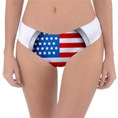 United Of America Usa Flag Reversible Classic Bikini Bottoms
