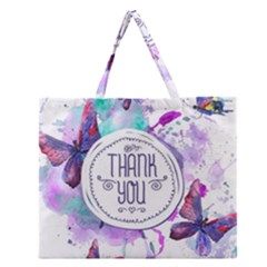 Thank You Zipper Large Tote Bag by Celenk