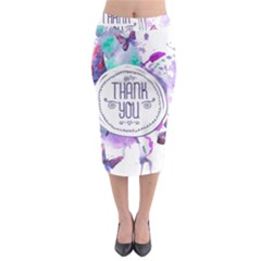 Thank You Midi Pencil Skirt by Celenk