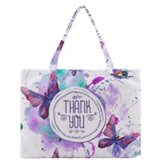 Thank You Zipper Medium Tote Bag by Celenk