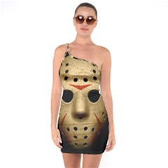 Jason Hockey Goalie Mask One Soulder Bodycon Dress