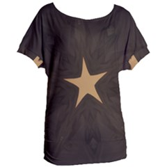Rustic Elegant Brown Christmas Star Design Women s Oversized Tee by yoursparklingshop