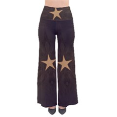Rustic Elegant Brown Christmas Star Design Pants by yoursparklingshop