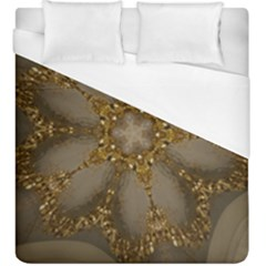 Golden Flower Star Floral Kaleidoscopic Design Duvet Cover (king Size)