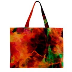 Abstract Acryl Art Zipper Mini Tote Bag by tarastyle