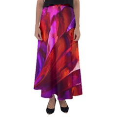 Abstract Acryl Art Flared Maxi Skirt