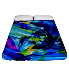 Abstract Acryl Art Fitted Sheet (king Size) by tarastyle