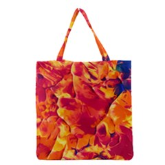 Abstract Acryl Art Grocery Tote Bag by tarastyle