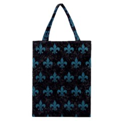 Royal1 Black Marble & Teal Leather Classic Tote Bag by trendistuff