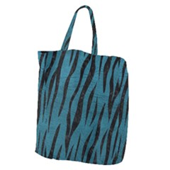 Skin3 Black Marble & Teal Leather Giant Grocery Zipper Tote by trendistuff