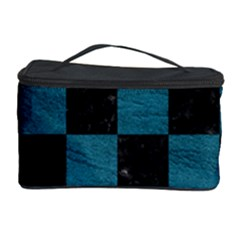 SQUARE1 BLACK MARBLE & TEAL LEATHER Cosmetic Storage Case