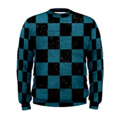 SQUARE1 BLACK MARBLE & TEAL LEATHER Men s Sweatshirt