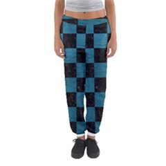 SQUARE1 BLACK MARBLE & TEAL LEATHER Women s Jogger Sweatpants