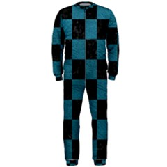 SQUARE1 BLACK MARBLE & TEAL LEATHER OnePiece Jumpsuit (Men)