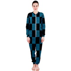 SQUARE1 BLACK MARBLE & TEAL LEATHER OnePiece Jumpsuit (Ladies)