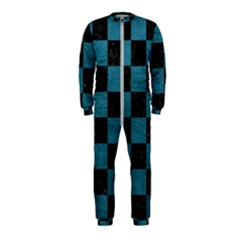 SQUARE1 BLACK MARBLE & TEAL LEATHER OnePiece Jumpsuit (Kids)