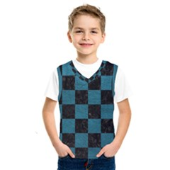 SQUARE1 BLACK MARBLE & TEAL LEATHER Kids  SportsWear