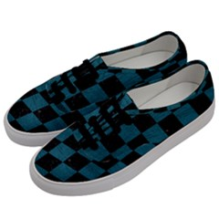 SQUARE1 BLACK MARBLE & TEAL LEATHER Men s Classic Low Top Sneakers