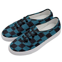 SQUARE1 BLACK MARBLE & TEAL LEATHER Women s Classic Low Top Sneakers