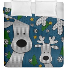 Cute Reindeer  Duvet Cover Double Side (king Size)