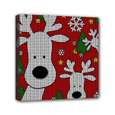 Cute Reindeer  Mini Canvas 6  X 6