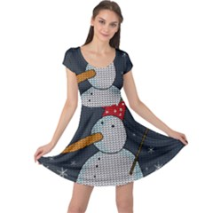 Snowman Cap Sleeve Dress