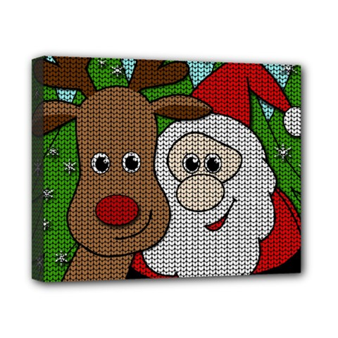 Santa And Rudolph Selfie  Canvas 10  X 8  by Valentinaart