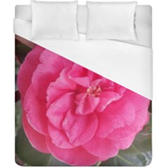 Pink Flower Japanese Tea Rose Floral Design Duvet Cover (california King Size) by yoursparklingshop