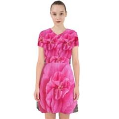 Pink Flower Japanese Tea Rose Floral Design Adorable In Chiffon Dress by yoursparklingshop